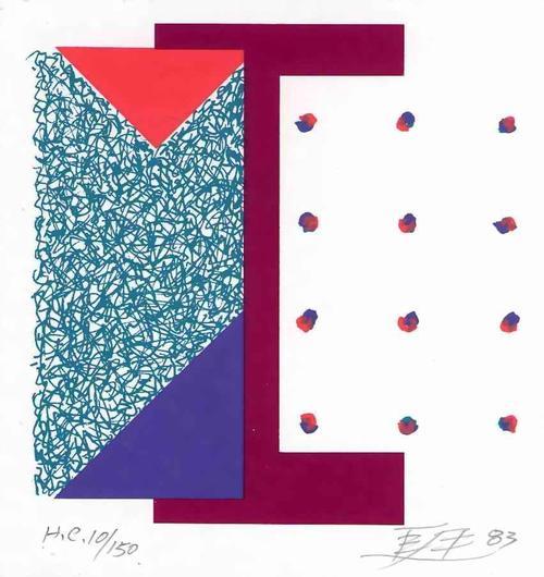 Leung Kui Ting - INFORMELLE POPART-KUBISTISCHE Handsignierte Graphik des HONG-KONG Chinesischen Künstlers 1983 kopen? Bied vanaf 55!