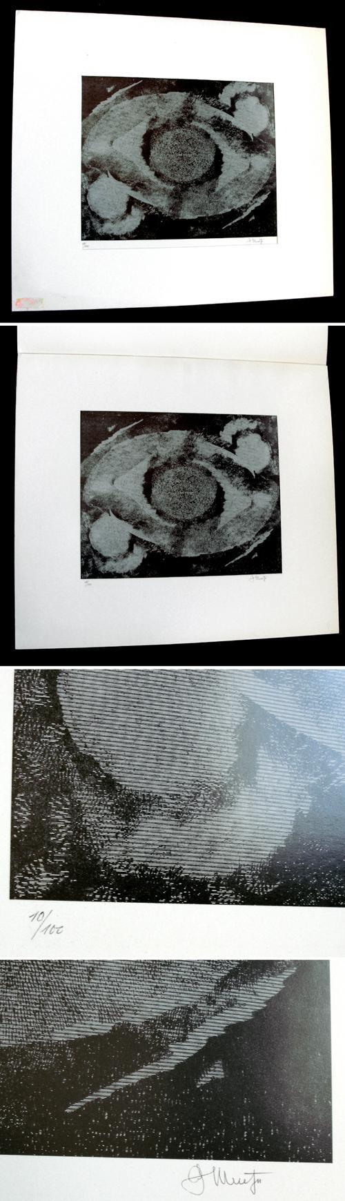 Georg Muche - Ins Astrale erhoben. Signierte Variographie, 1965. kopen? Bied vanaf 200!