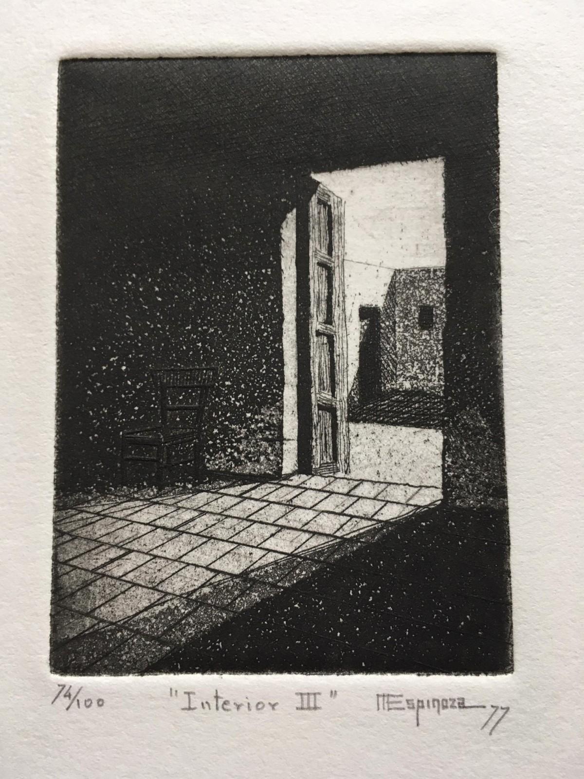 Miguel A. Espinoza - Interior III, Radierung, 1977 kopen? Bied vanaf 35!