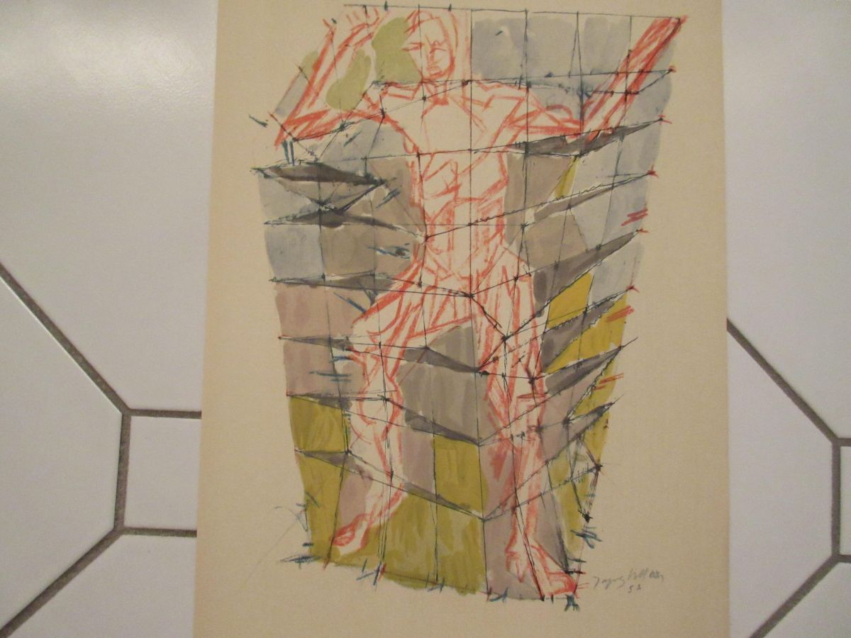 """Jaques Villon - Jacques Villon """"EN COLERE"""" from Douze Contemporains, Lithographie kopen? Bied vanaf 190!"""