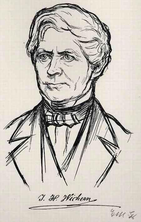 Ernst Müller Gräfe - J.H. WICHERN (ARMEN-THEOLOGE Gründer des RAUHEN HAUSES)OriginalLithographie auf Bütten - handmonogr. kopen? Bied vanaf 55!