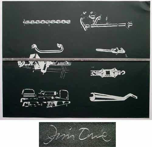 Jim Dine - Jim Dine, Collage und Serigrafie auf Velin, 1966, handsigniert kopen? Bied vanaf 690!