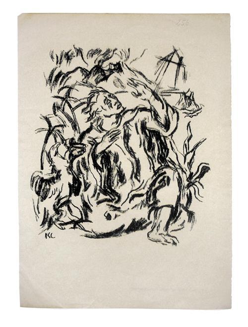 Karl Caspar - Johannes auf Patmos. Original-Lithographie, GENIUS 1919. kopen? Bied vanaf 50!