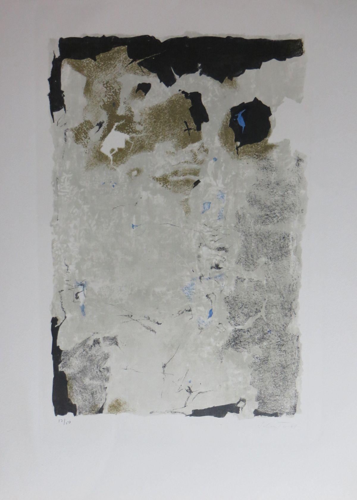 Johannes Schreiter - Johannes Schreiter. Farblithographie von 1961. Handsigniert. kopen? Bied vanaf 120!