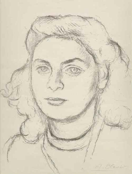 Alexandre Blanchet - - JUNGE FRAU - ein PORTRAIT - OriginalLithographie des in PFORZHEIM geborenen GENFers - handsigniert kopen? Bied vanaf 46!