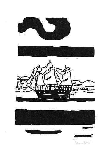 Gottfried Teuber - - KAJÜTENBUCH - signierter OriginalLinolschnitt des SEEWALD-Schülers aus BRAUNAU in BÖHMEN - 1969 kopen? Bied vanaf 20!