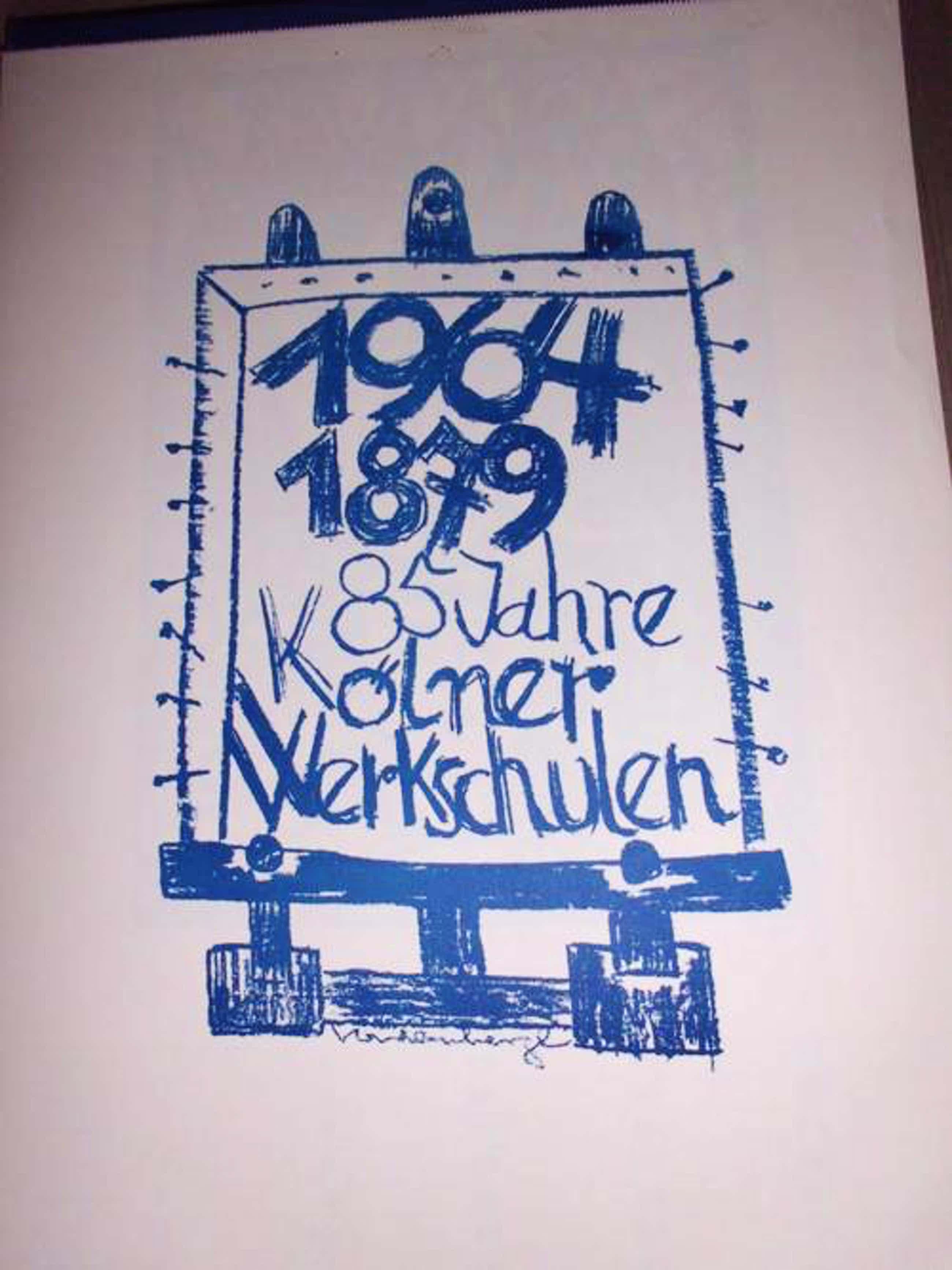 Friedrich Vordemberge-Gildewart - KALENDER 1964 - 85 Jahre Kölner Werkschulen 12 sign. Blätter Vondemberge kopen? Bied vanaf 150!