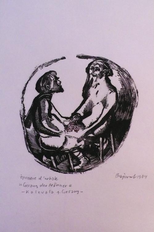 Archibald Bajorat - Kalevala 1. Gesang - Gesang der Männer - Holzstich kopen? Bied vanaf 45!