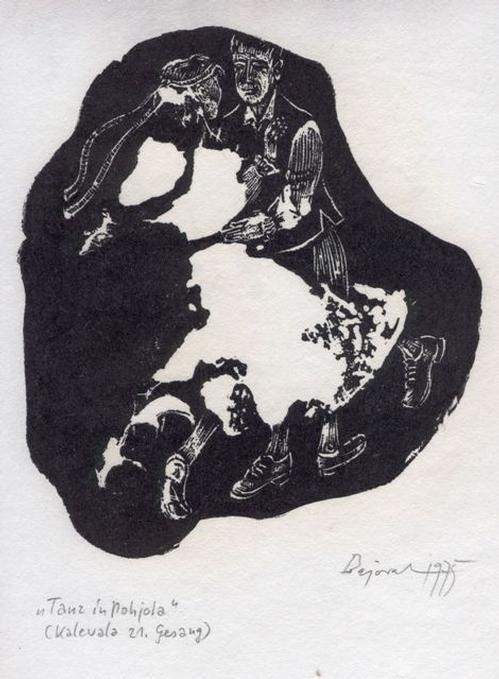 Archibald Bajorat - Kalevala 21. Gesang, Tanz in Pohjola. Holzschnitt, 1975 kopen? Bied vanaf 45!
