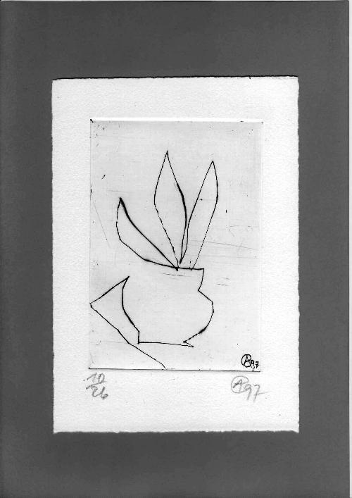 Achim Freyer - Kaltnadelradierung,1997,Exemplar 10/26,handsigniert,1A-Zustand,seltenes kleines Format kopen? Bied vanaf 59!