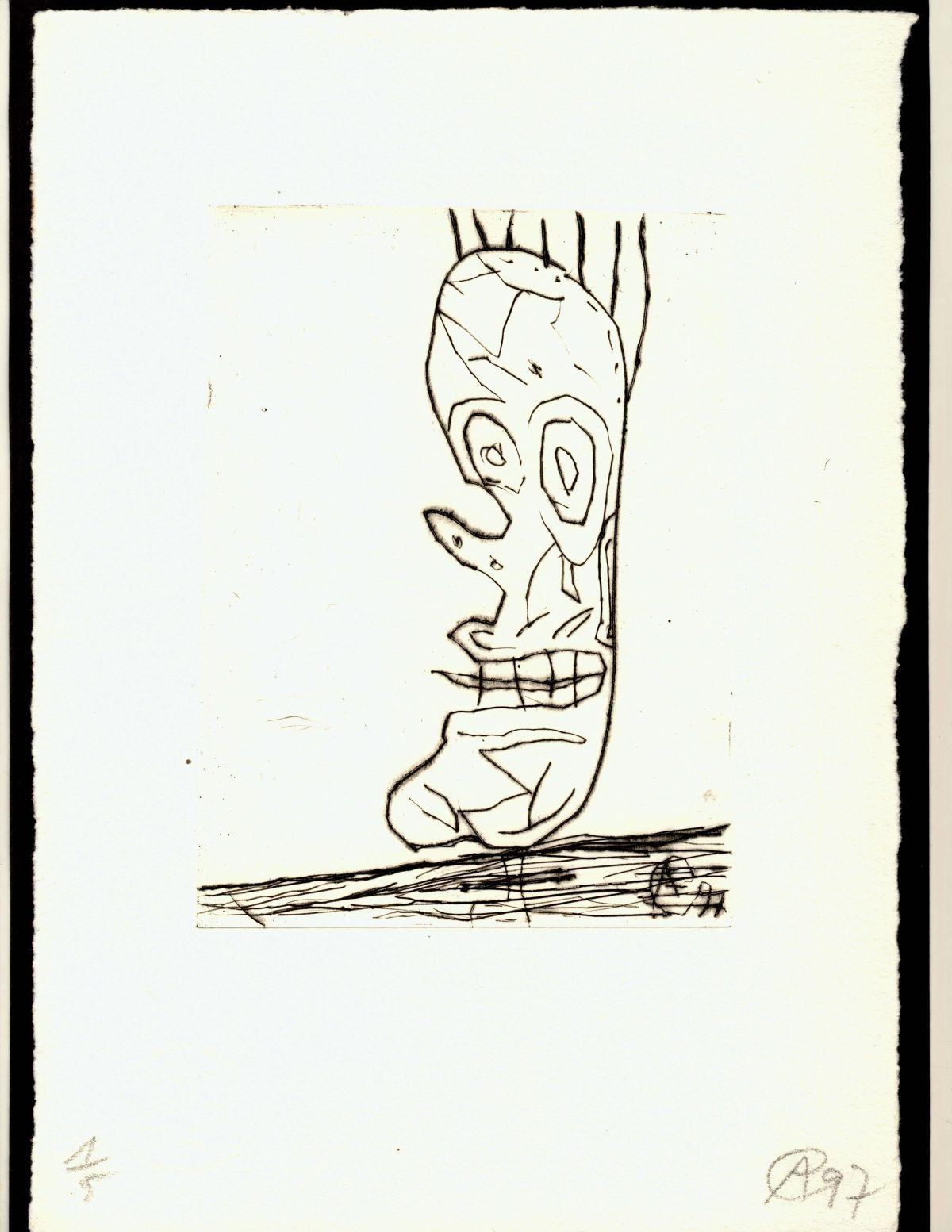 Achim Freyer - Kaltnadelradierung,handsigiert, Ex.1/5,1997, auf edlem Büttenkarton kopen? Bied vanaf 119!