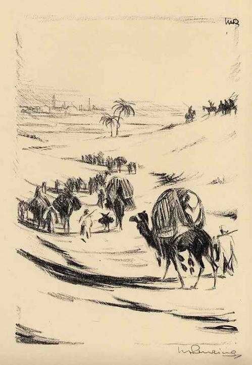 Walther Albert Renzing - KARAVANE - Handsignierte OriginalLithographie zu Arnolds TALIB - 1925 kopen? Bied vanaf 45!