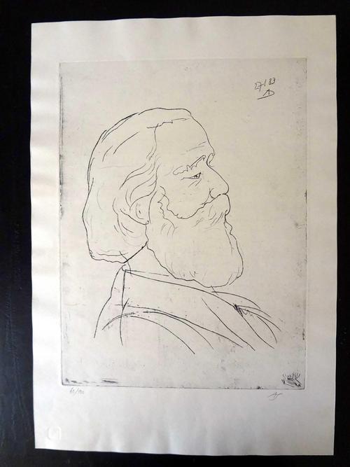 Arnd Schultheifl - Karl Marx, Kaltnadelradierung auf Karton, 1983 kopen? Bied vanaf 78!