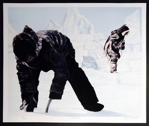 Kenneth Kirkby - Ken Kirkby: Preparing the hunt - Kanada * Natur * Jagd - handsigniert, nummeriert, betitelt kopen? Bied vanaf 28!