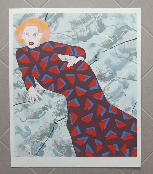 Kiki Kogelnik - Kiki KOGELNIK, Lithografie Lady with TRIANGLE,HANDSIGNIERT; nummeriert. kopen? Bied vanaf 2900!