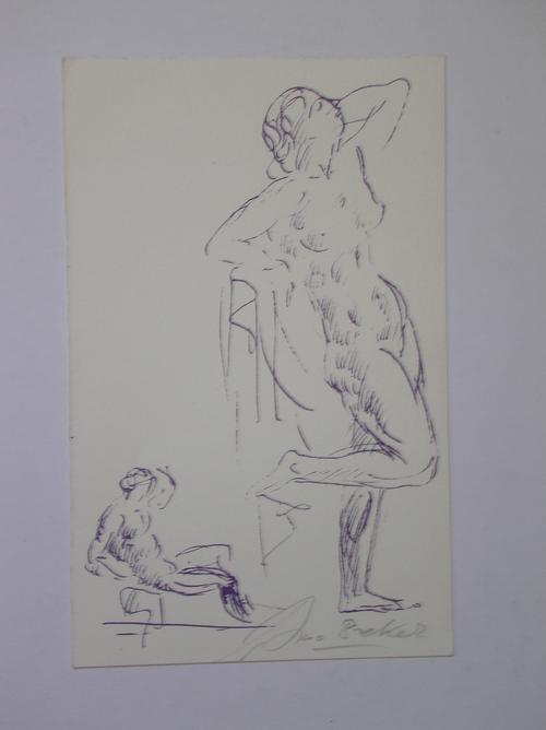 Arno Breker - Kleine, feine Grafik auf Bütten, handsigniert, Maße 12 x 18 cm kopen? Bied vanaf 270!