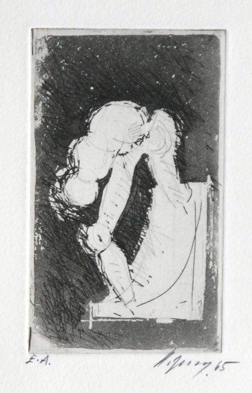 Rudolf Hoflehner - KLEINE RADIERUNG - Radierung auf Bütten, handsigniert, datiert, bezeichnet mit E.A. kopen? Bied vanaf 190!