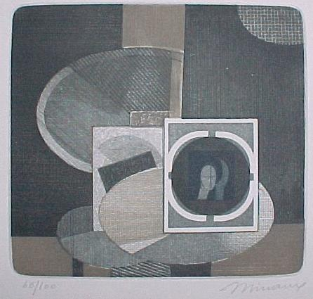 Andrè Minaux - kleines abstraktes Stilleben, Farbradierung ca, 1978 kopen? Bied vanaf 50!