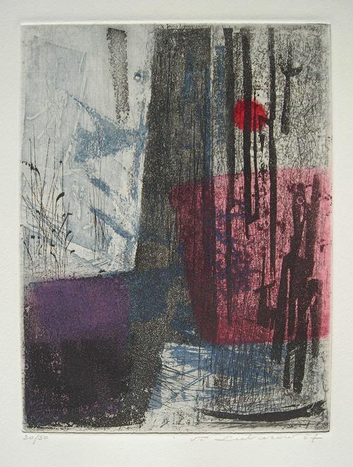 Renee Lubarow - Komposition, Farbradierung von 1957 oder 67, handsign. kopen? Bied vanaf 85!