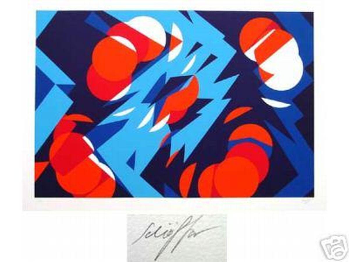 Nicolas Schöffer - Komposition - großformatige Farbserigrafie, handsigniert, nummeriert kopen? Bied vanaf 320!