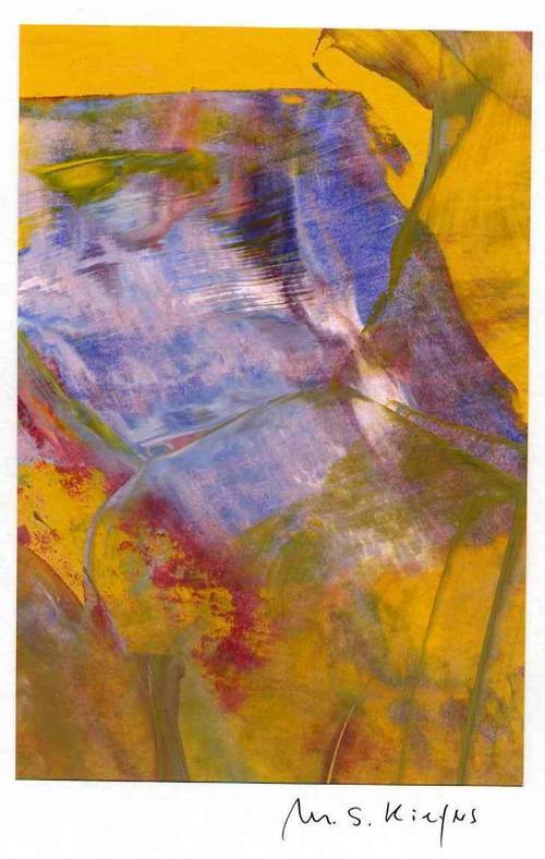 Michael S. Kiefers - KONZILIANTES BLAU-ORANGE - Handsignierte Acrylarbeit des INFORMELLEN aus BERLIN kopen? Bied vanaf 35!