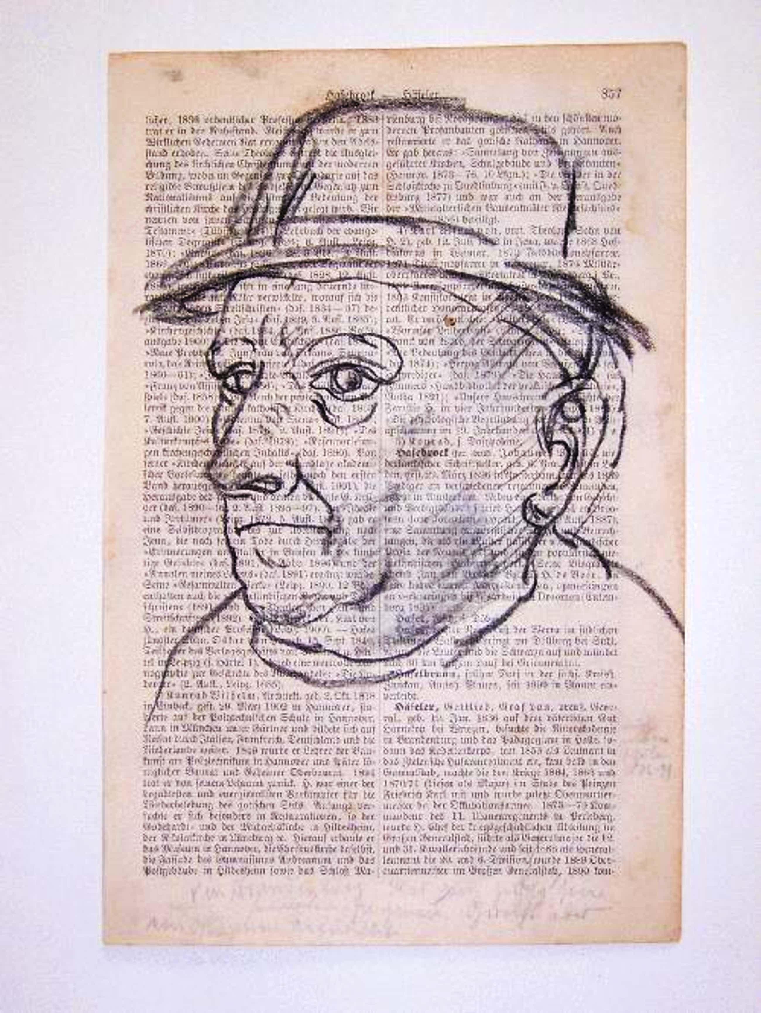 A.R. Penck - - Kopf III - Original-Kohlezeichnung auf Lexikonseite, 1961 kopen? Bied vanaf 490!