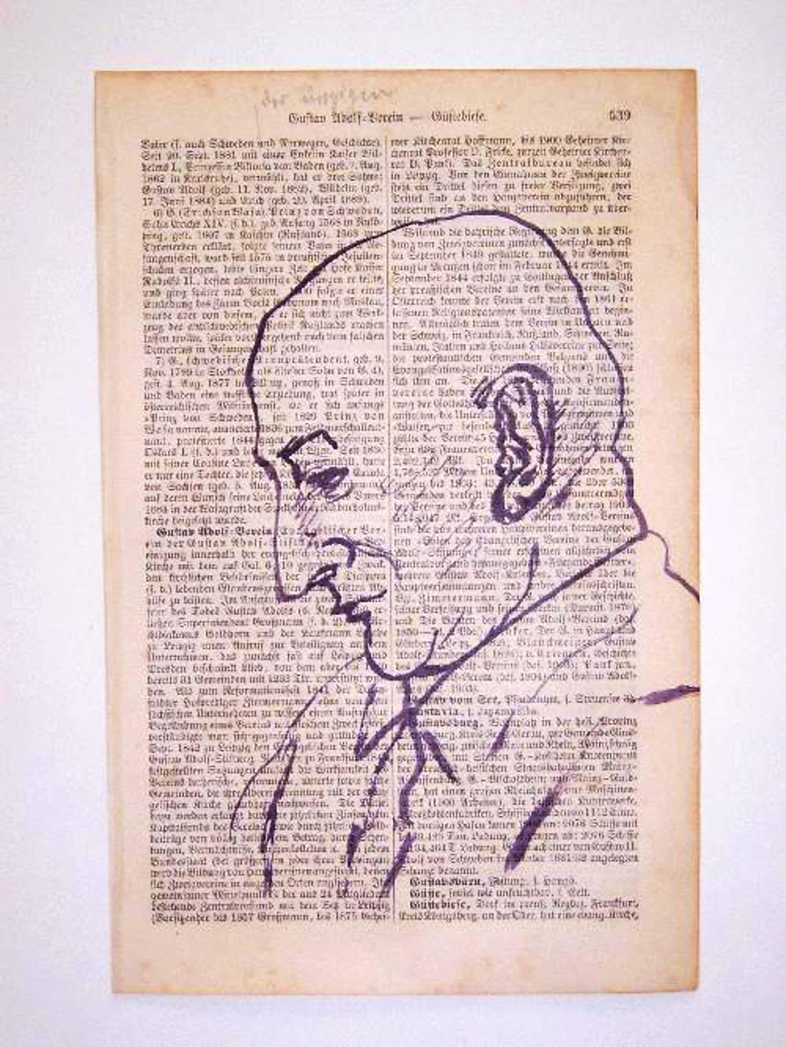 A.R. Penck - - Kopf II - Original-Tuschezeichnung auf Lexikonseite, 1961 kopen? Bied vanaf 490!