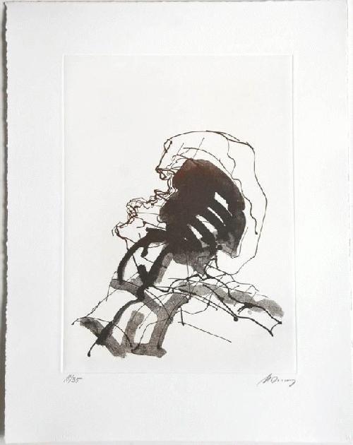 Rudolf Hoflehner - - KOPF - Radierung auf Büttenpapier, handsigniert, numeriert kopen? Bied vanaf 390!