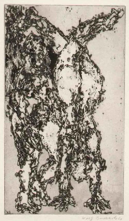 Wolff Buchholz - KOPFSTÄNDLICHER AKT - 1966 - Handsignierte OriginalRadierung d. HAMBURGer Künstlers der HdSK kopen? Bied vanaf 110!