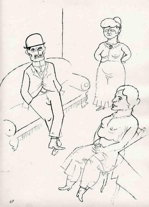 Georg Grosz - - KRACH - Lithographie - Original aus dem Zyklus ECCE HOMO (MalikVerlag 1923) kopen? Bied vanaf 79!