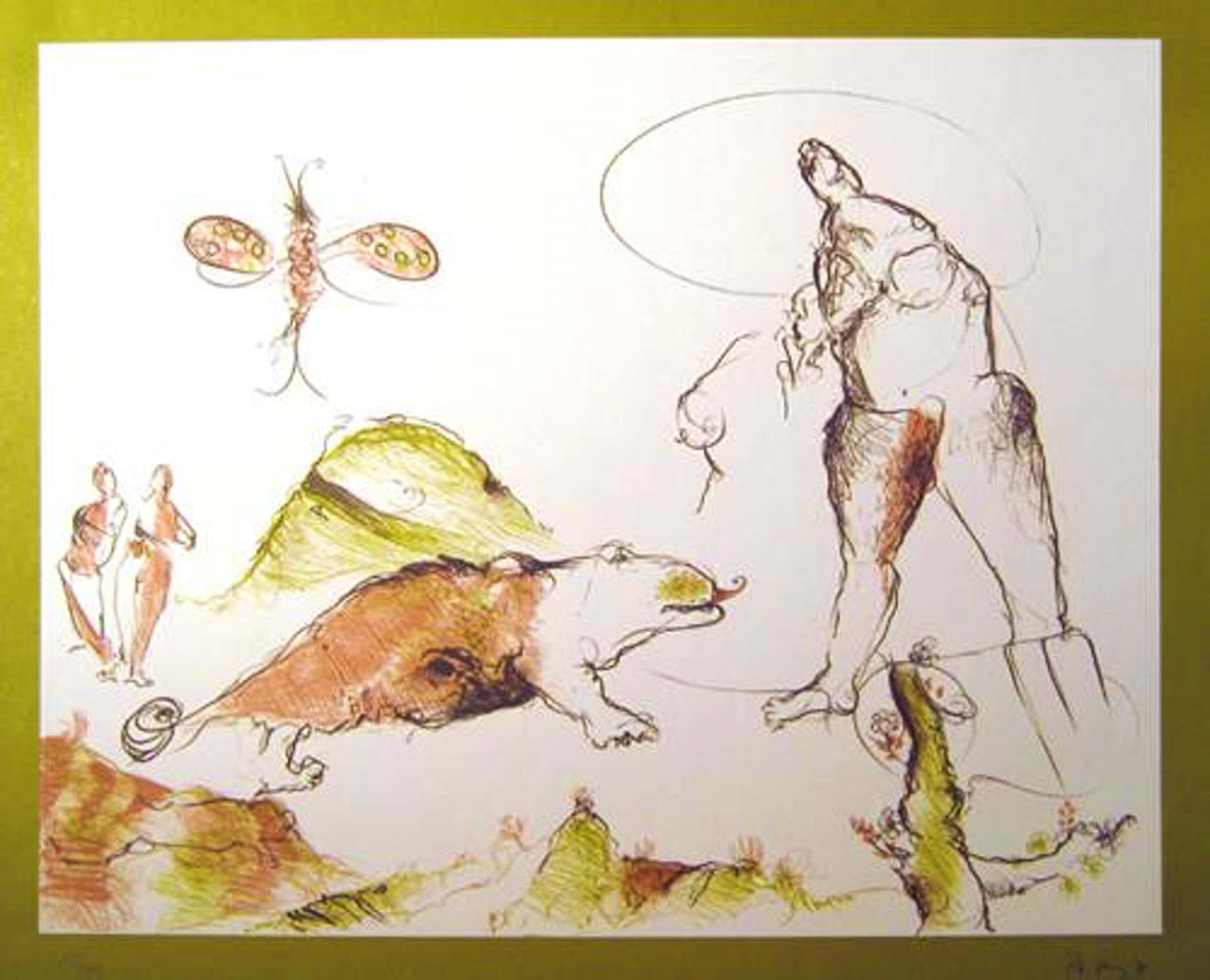 Pitt Moog - Kreatur und Reptil, Farboffsetlithografie, 1978, signiert kopen? Bied vanaf 60!