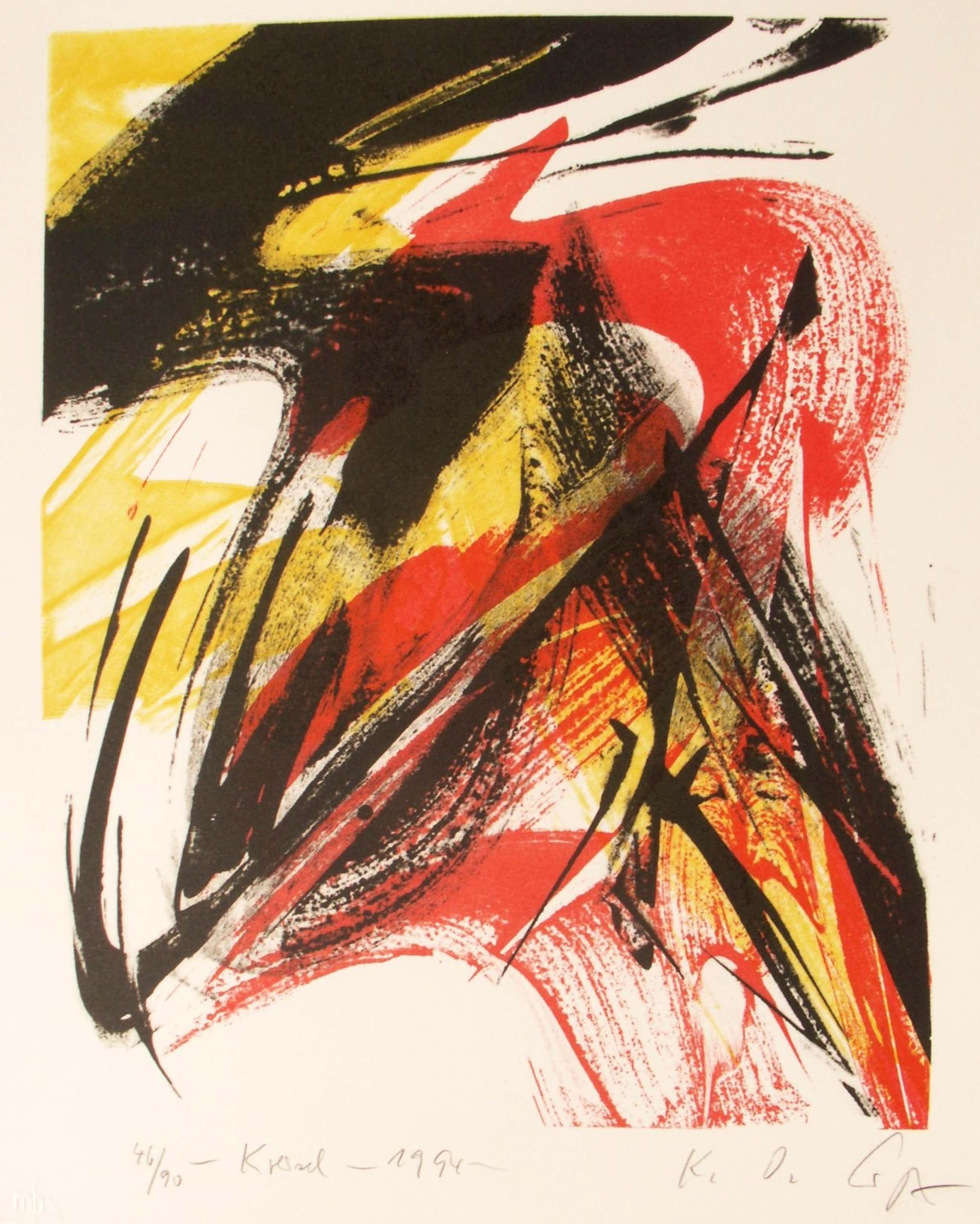 Karl Otto Gotz - Kreisel, Farblithografie von 1994, handsigniert kopen? Bied vanaf 460!