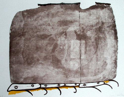Jon Marten - Kriechende Zeit, Lithographie, sign., numm., 1981 kopen? Bied vanaf 45!