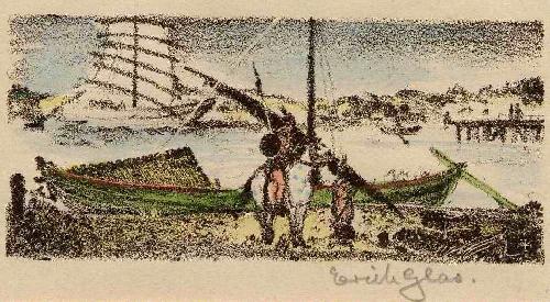 Erich Glas - KRIEGERIN - 1923 - Handsignierte OriginalLithographie zum JAPANischen TOSA NIKKI DES Ki no TSURAYUKI kopen? Bied vanaf 55!
