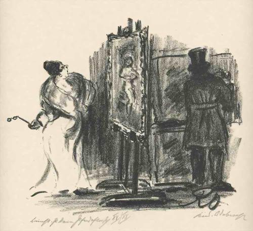 Rudolf Odebrecht - KUNST IST KEIN PFERDEFLEISCH - Handsignierte & titul.OriginalLithographie 1925 kopen? Bied vanaf 65!