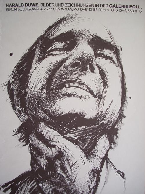 Harald Duwe - Künstlerplakat, Originalentwurf von 1983 auf Velin, sehr selten ! kopen? Bied vanaf 35!
