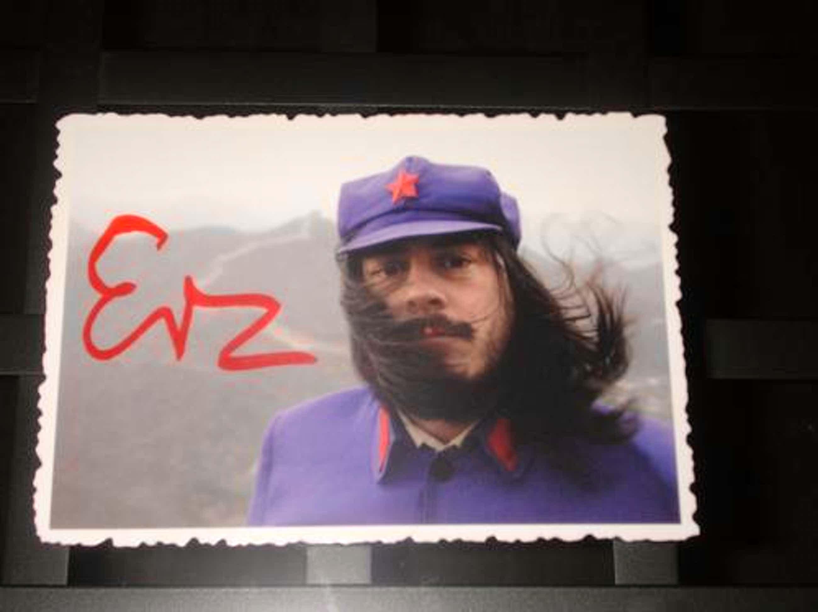 Jonathan Meese - Kunstpostkarte Mao, rückseitig signiert J Meese 07, gezackter Rand kopen? Bied vanaf 400!