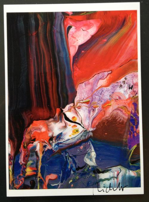 Gerhard Richter - Kunstpostkarte Motiv Aladin handsigniert mit schwarzem Filzstift kopen? Bied vanaf 380!