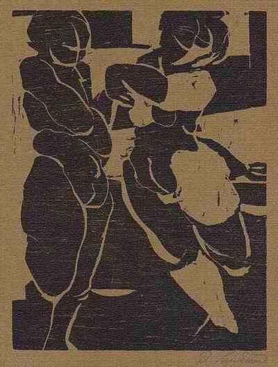 Ralf Lankau - - KÜSS DIE HAND - 1995 - Handsignierter OriginalHolzschnitt des Philologen aus LÜBECK kopen? Bied vanaf 32!