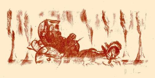 Fritz Heubner - KUTSCHFAHRT auf der FLUCHT Handsignierte Originallithographie des SIMPLICISSIMUS-Illustratoren 1923 kopen? Bied vanaf 32!