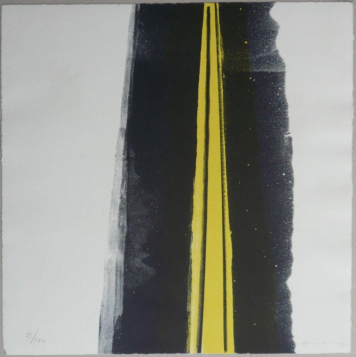 Hans Hartung - L 1973-26, Schwarz-Gelb - handsignierte und nummerierte Original-Lithographie von 1973 kopen? Bied vanaf 390!