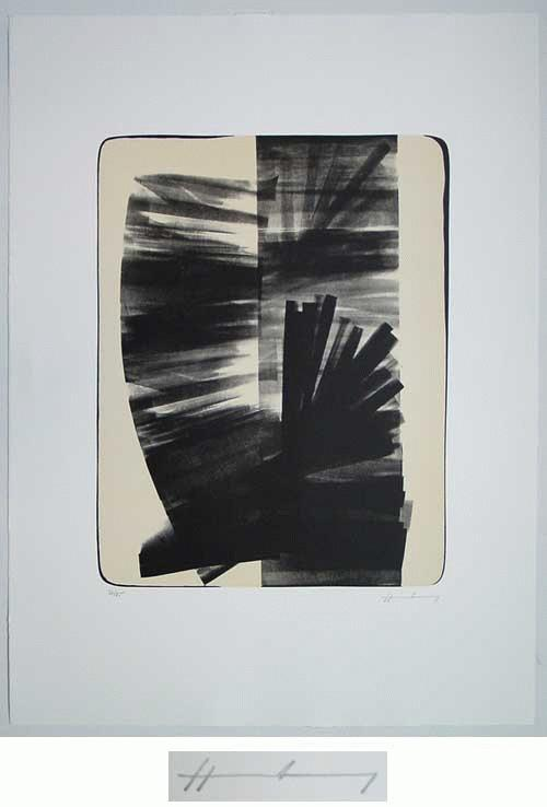 Hans Hartung - - L 7 1974 -, Farblithografie, hansigniert, 27/85 kopen? Bied vanaf 268!