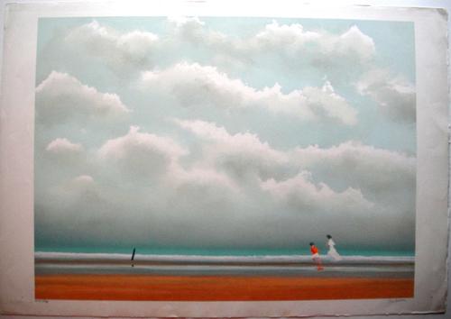 Pierre Doutreleau - La Plage - Originale handsignierte Lithografie kopen? Bied vanaf 210!