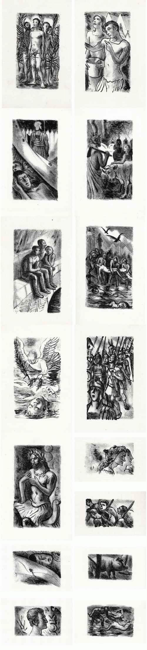 Gèrard Cochet - La THÉBÉENNE d´Alexandre ARNOUX - 15 lithographies originales sur Vergé bleu de Rives 1945 kopen? Bied vanaf 49!