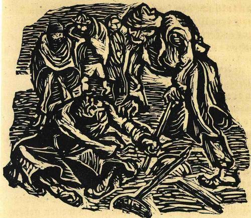 Ernst Barlach - LAHMER & EINBEIN - 1922 - OriginalHolzschnitt aus der Holzschnittfolge Der FINDLING (Unter PP) kopen? Bied vanaf 55!