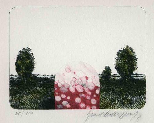 Bernd Müller-Dennhof - LANDSCHAFT 1973 Handsignierte Original Zinklithographie des WIENer Akademie-Schüler aus KUSEL/PFALZ kopen? Bied vanaf 65!