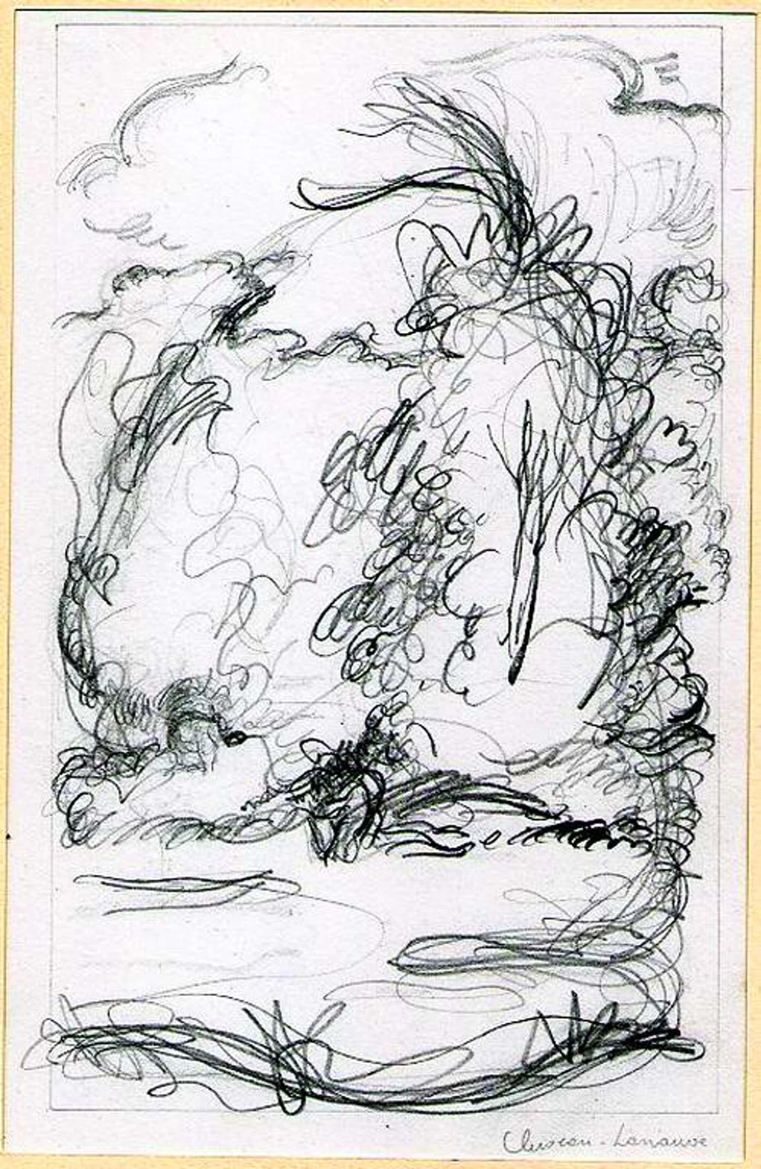 Jean Cluseau-Lanauve - LANDSCHAFT bei VERSAILLES - 1943 - Handsignierte Original-Zeichnung des PARISer VENEDIG-PREISTRÄGERS kopen? Bied vanaf 125!