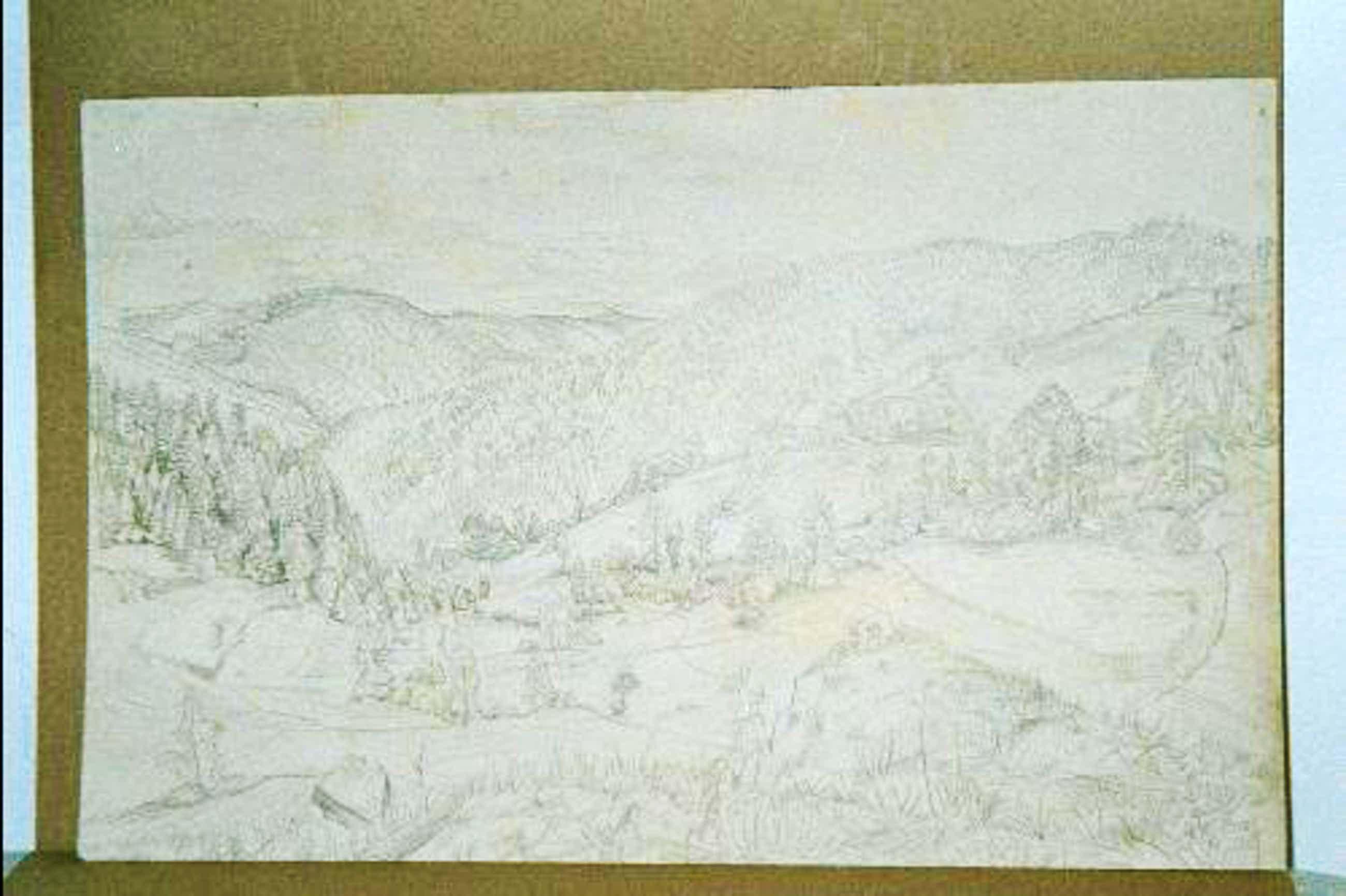 Fritz Lang - Landschaft (Schwäbische Alp?), Bleistiftzeichnung, handsigniert, 1922 kopen? Bied vanaf 190!