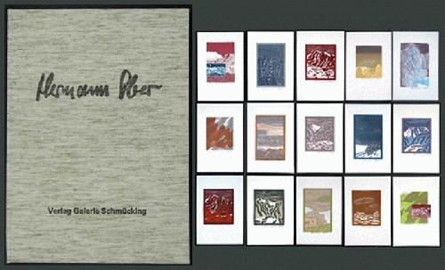 Hermann Ober - - LANDSCHAFTEN - 15 Farblinolschnitte, alle handsigniert, 1980, Galerie Schmücking kopen? Bied vanaf 490!