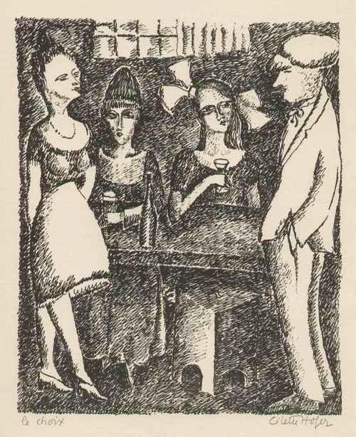 Cilette Ofaire - Le CHOIX - Die WAHL -1922 handsignierte & titulierte Graphik der großen ABENTEUERIN & AUTORIN (ISMÉ) kopen? Bied vanaf 125!